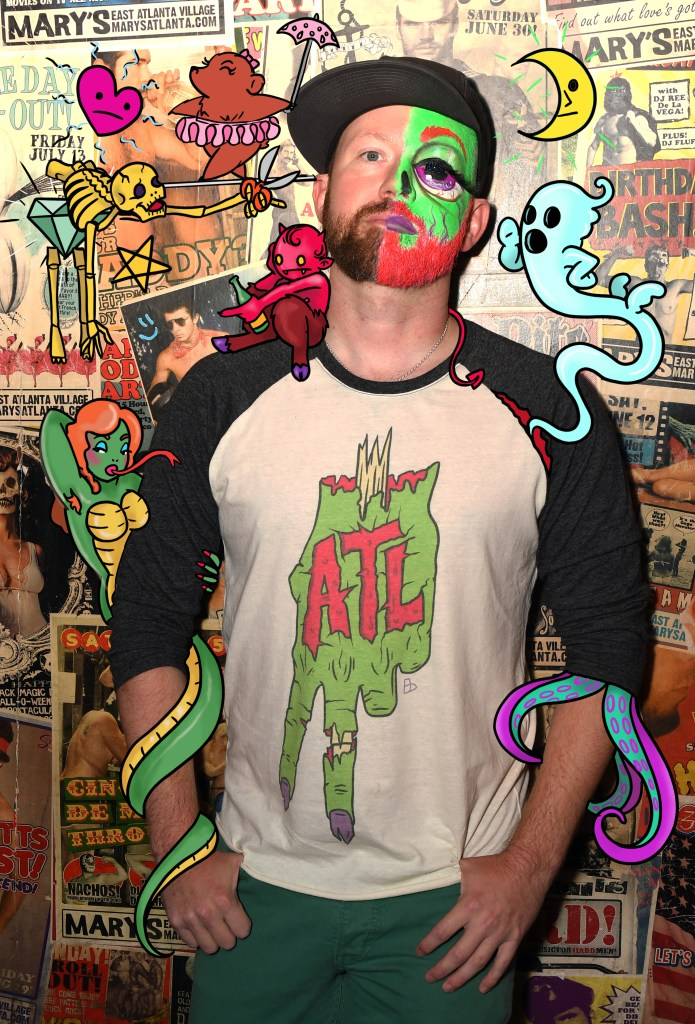 Brad Gibson (02) is an artist and entrepreneur whose designs appear on his apparel company, Neon Horror.