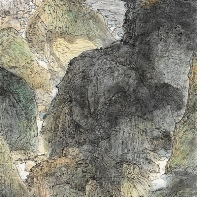 2013, ink on paper mounted as hanging scroll, 53.15 x 27.15 in