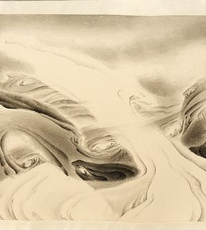 2012, ink on paper mounted as hand scroll, 12 x 97.25 inches