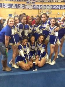 Ms. Gibson & Senior Cheerleaders CITY CHAMPS