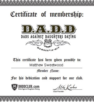 DADD Certificate