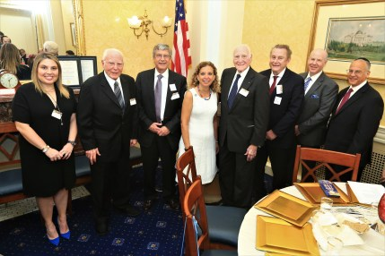 Honoree Courtney Anixter, Honoree Jack A. Belz, Honoree Kenneth Goldman, Representative Debbie Wasserman Schultz, Honoree Daniel Rose, Honoree Peter Friedmann, Dr. Matt Sweetwood, Richard Boruch Rabinowitz