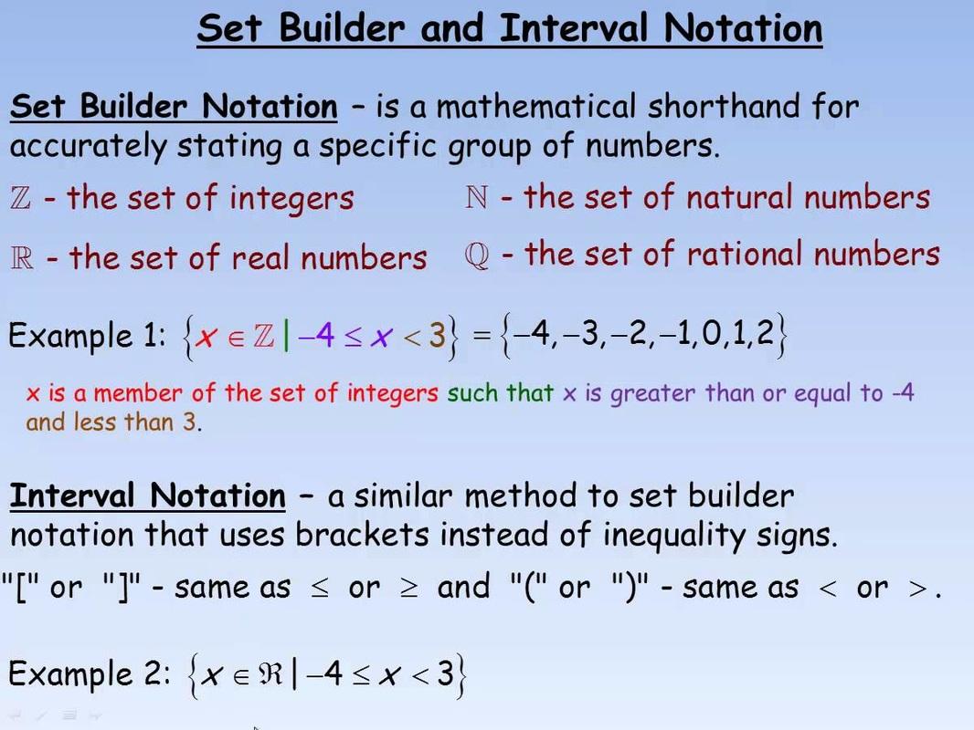 Sets And Set Notation