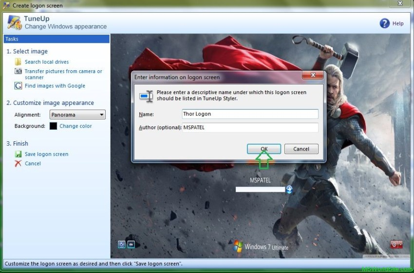 Logon Screen 6