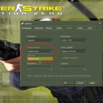 How to run counter strike 1.6 and condition zero in full screen mode ?