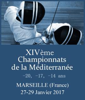 XIV Сhampionnats de la Méditerranée Escrime- Résultats – 27-29.01.2017