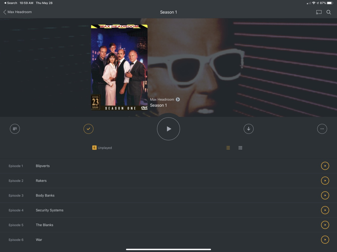 Max Headroom on Plex