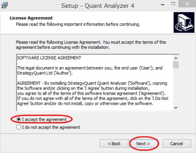 QuantAnalyzer インストール方法②