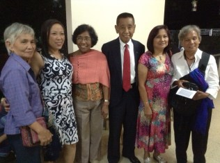 Visitors from Tagudin, Ilocos Sur, Gloria Agas and sister