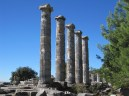 the magnificent columns of Temple of Athena from another angle