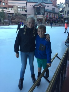 Outdoor Ice Skating in August
