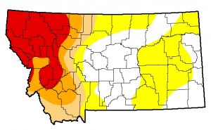 Montana Drought Monitor August 27