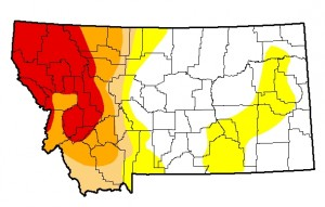 Montana Drought Monitor October 15