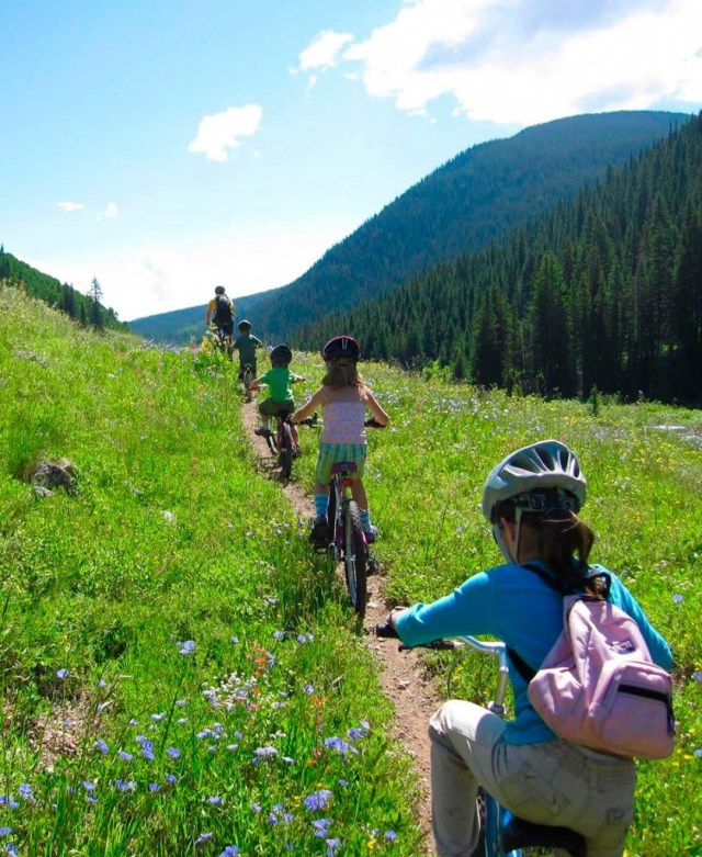 mountain biking with kids in the Gunnison Valley