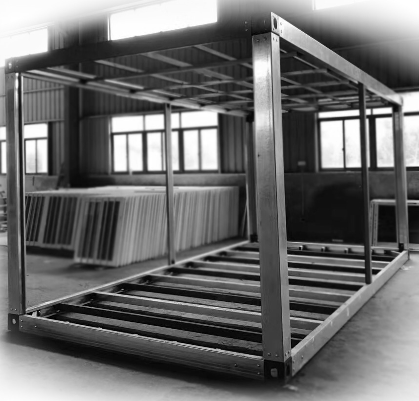 assembly container house steel frame