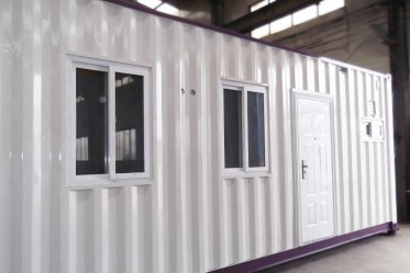 Container house applied as office in workshop