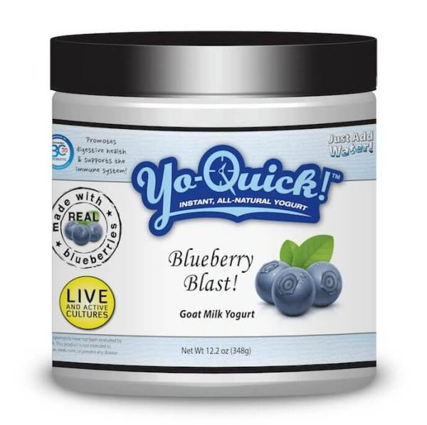 Yo-Quick - Instant, All-Natural Goat Milk Yogurt - Blueberry Blast 348 g powder