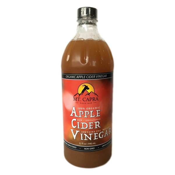 Organic Apple Cider Vinegar - Raw and unfiltered with the Mother - 32 oz.