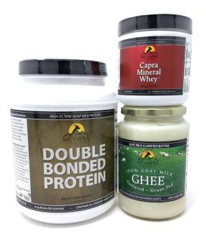 Mt. Capra Product Bundle 1 - Goat Milk Protein, Ghee, and Minerals