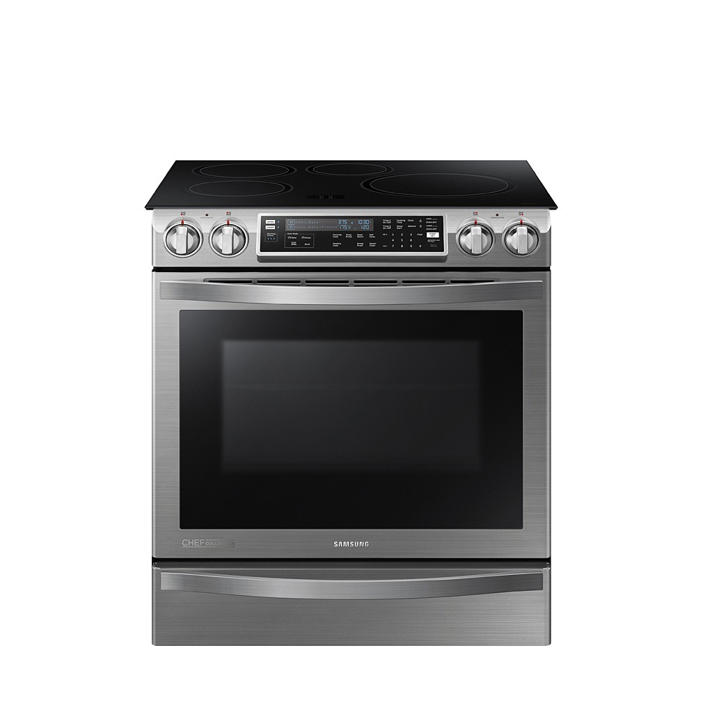Samsung CHEF 5.8 Cu Ft Slide In Induction Range NE58H9970WS
