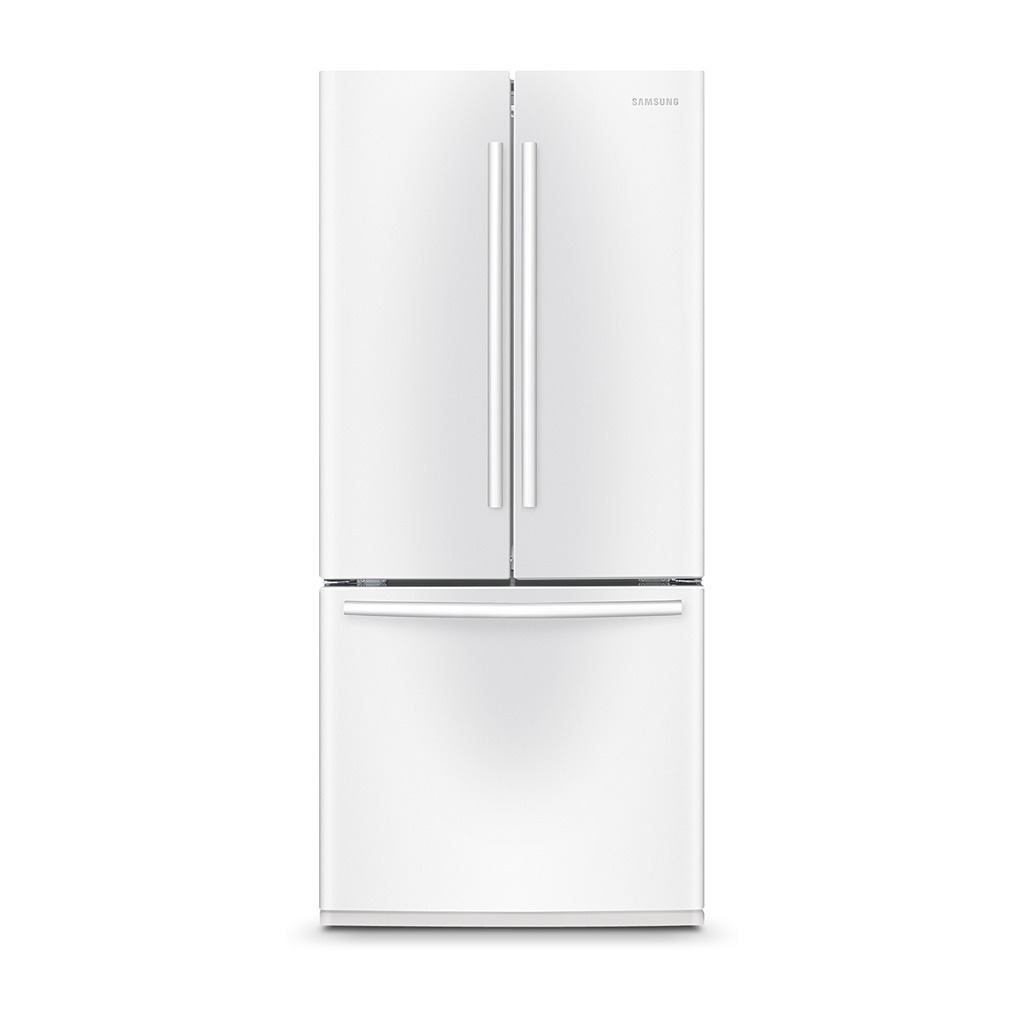 Samsung 21.6 cu.ft 3-Door French Door Refrigerator White RF220NCTAWW/AA