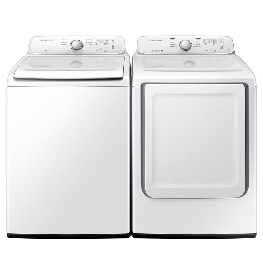 Samsung 4.0 Cu Ft Washer 7.2 Cu Ft Dryer WA40J3000AW DV40J3000EW
