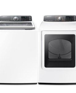 Samsung White 5.5 cu.ft. Washer WA7770, 7.4 cu.ft. Electric Dryer