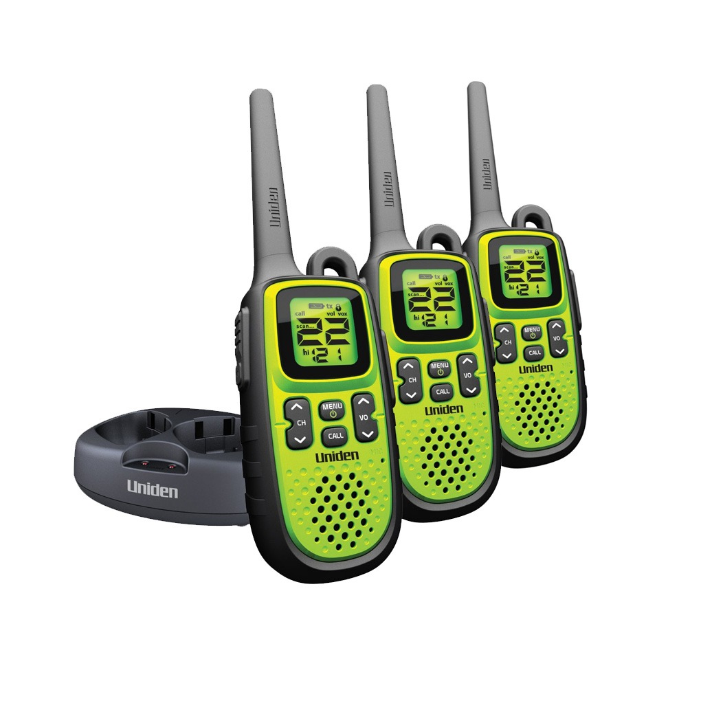 Uniden 28Mile 22Ch Gmrs/Frs 2 Way Waterproof Radio GMR2838-3CKDC
