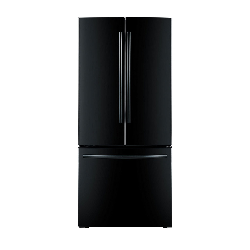 Samsung 21.6 cu.ft 3-Door French Door Refrigerator Black - RF220NCTABC/AA