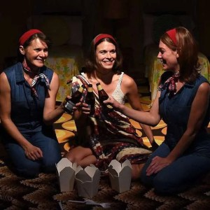 Amy Jean Johnson, Meredith Rae Lyons, and Maura Kidwell in TWIN SET, directed by Heather Bodie