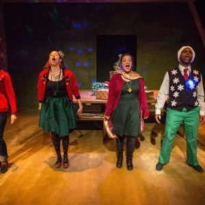 Jamie Bragg, Molly Parchment, Rachel Van Marter, and Breon Arzell in CHRISTMAS EVE EVE, directed by Jacqueline Stone