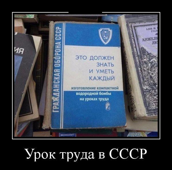 Урок труда в СССР демотиватор, прикол, юмор