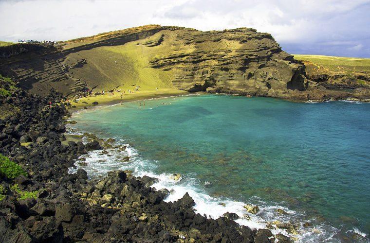 Пляж - фото самых красивых и необычных пляжей в мире. Зеленый пляж