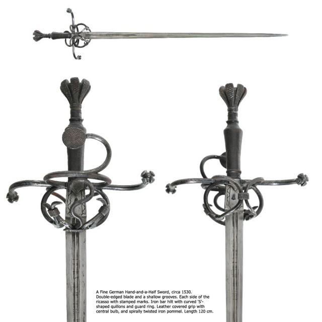 5. Рейтарский меч (мог использоваться как альтернатива кацбальгеру) европа, история. оружие, ландскнехты