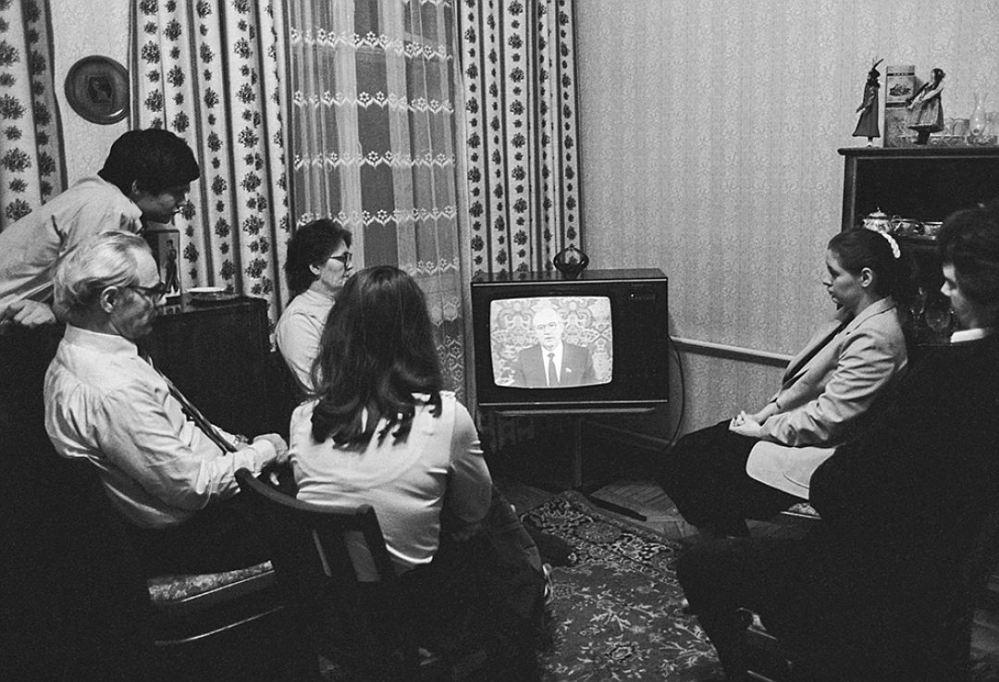 Обязательное поздравление от Генерального секретаря ЦК КПСС Фото: фотохроника ТАСС.