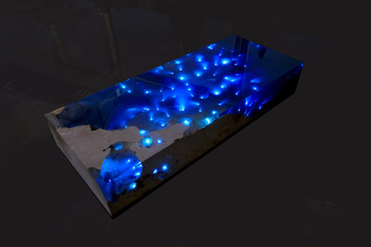 nature-inspired furniture starry sea resin table