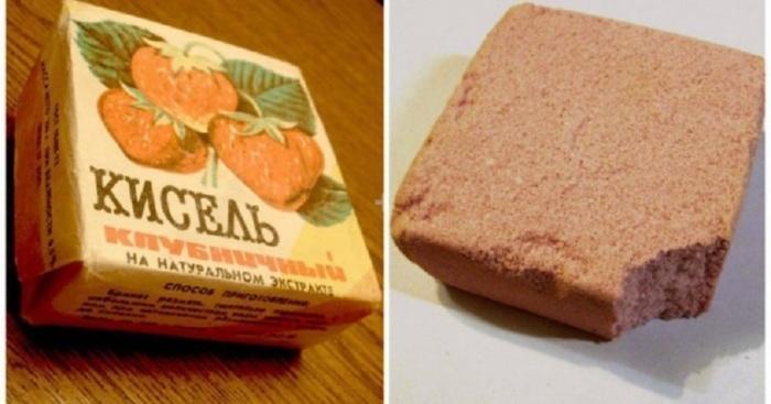Советские дети с удовольствием грызли сладкие кисельные брикеты, которых в магазинах было много, да и стоили они дешевле мороженого.