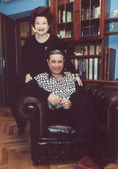 Евгений Петросян и Елена Степаненко, 1997 год.
