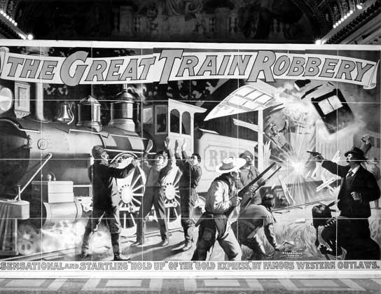 Картинки по запросу Великое ограбление поезда был первым художественным фильмом
