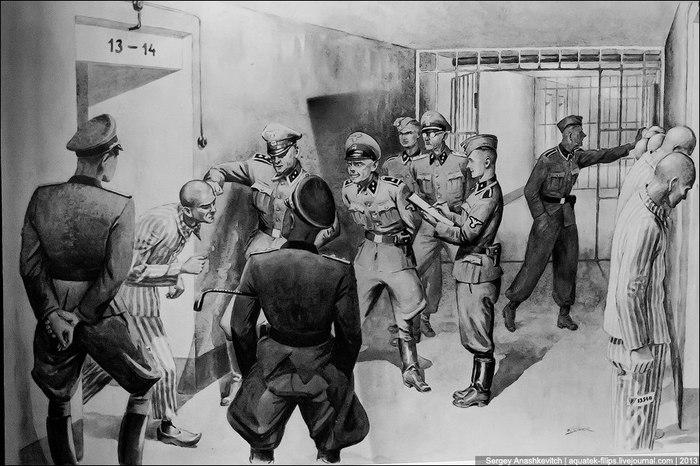 Искусство в Освенциме. концентрационный лагерь, освенцим, рисунок, длиннопост