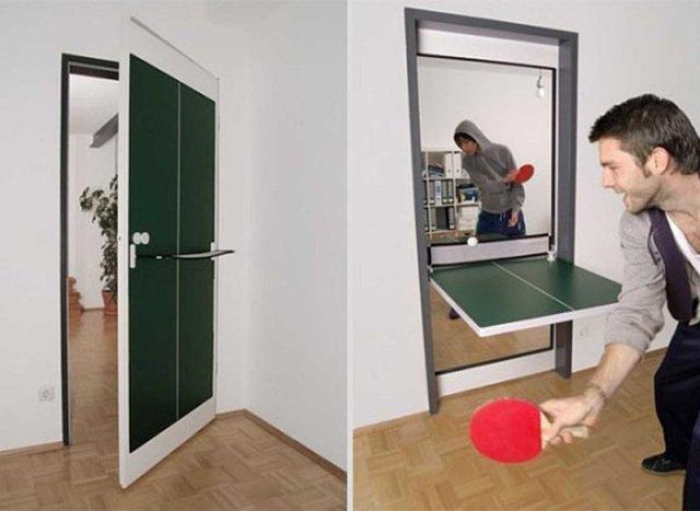 8. Дверь-трансформер гениальные вещи, дизайн, идеи, интересно, просто и гениально, фото