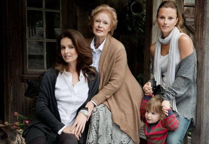 Беата Тышкевич в кругу семьи. / Фото: www.fb.ru