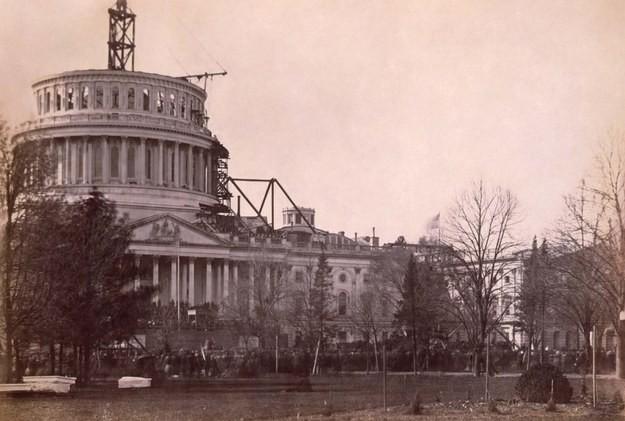 5. Здание Капитолия, США, 1861 год достопримечательности, здания, старые фото, строительство