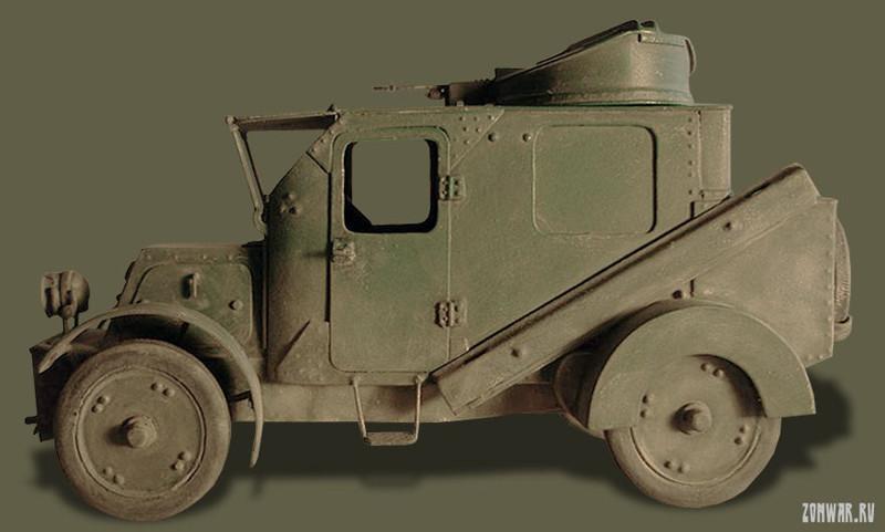 Бронеавтомобиль Накашидзе война, история, факты