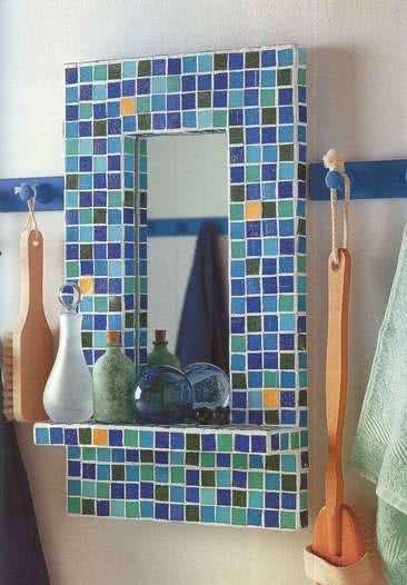 Зеркало с мозайкой в средиземноморском стиле
