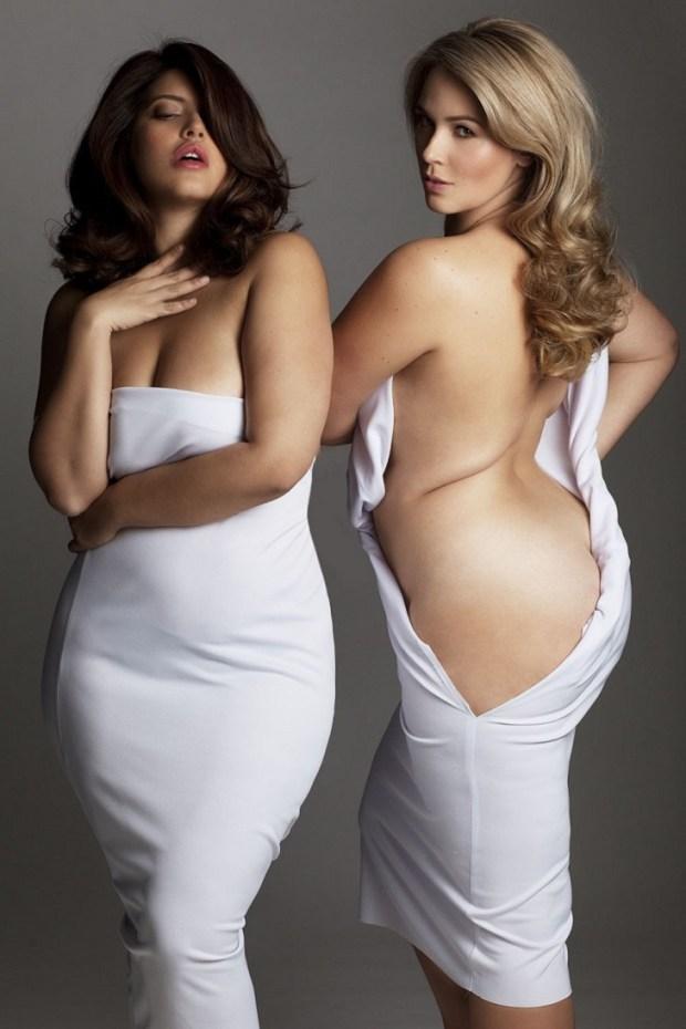 Пуэрториканка Дениз Бидо и Марина Булаткина — российская модель из Новосибирска. девушка, фигура, фотопроект