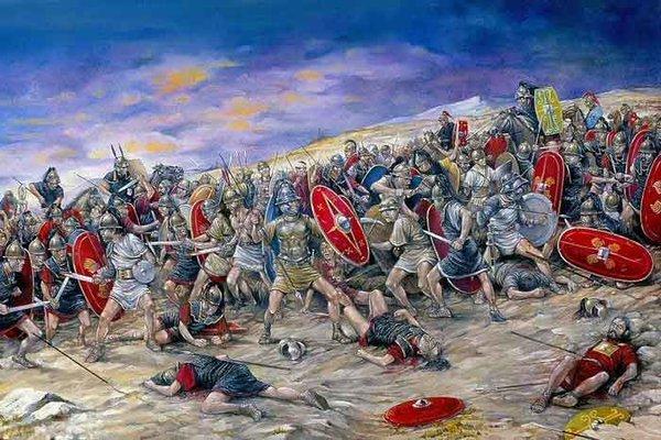 Бой легионеров с повстанцами Спартака