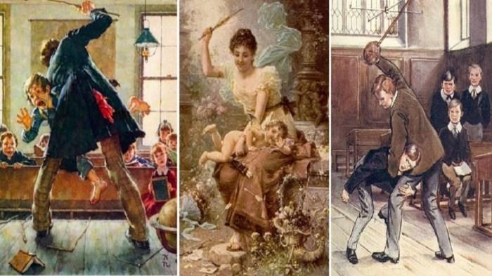 Телесные наказания детей в старину были распространены./Фото: i.ytimg.com
