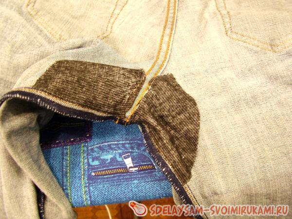 штопка джинсов в домашних условиях