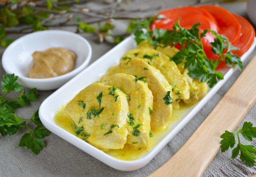 Куриное филе в сливках с медом и горчицей, пошаговый рецепт с фото